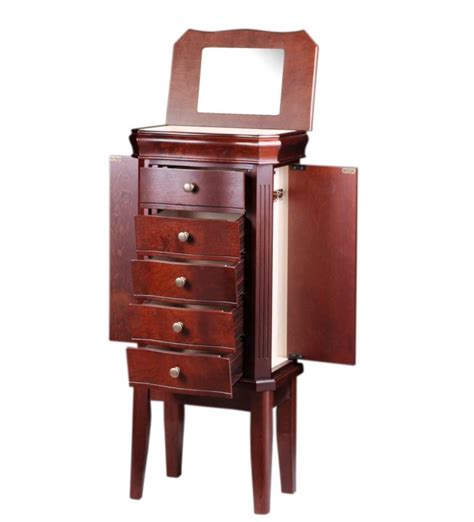 jewelry armoire cherry wood diplomat cherry wood finish jewelry armoire charging