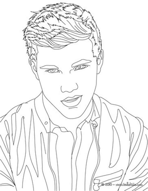 coloring pages name taylor taylor lautner thinking close up coloring pages