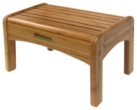 growing up green bamboo wood step stool modern
