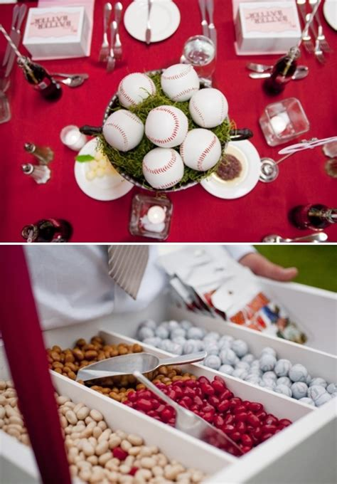 baseball themed decorating ideas baseball theme wedding decor ideas