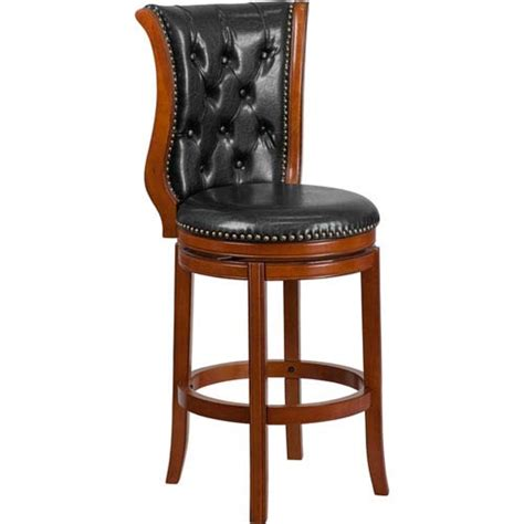 Black Leather High Back Bar Stools by Leather High Back Swivel Bar Stools Bellacor