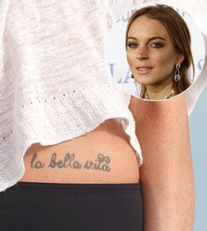 lindsay lohan tattoos lindsay lohan on wrist