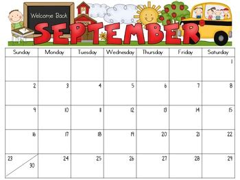 Editable Monthly Calendars 2018 2019 School Teacher And Lesson Plan Templates Free Preschool Calendar Templates 2018