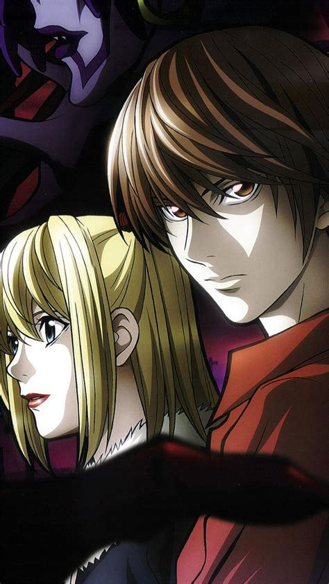 misa note misa amane and light yagami wallpaper for iphone x 8 7