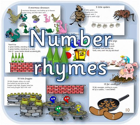 printable numbers early years number rhymes eyfs maths printable early years primary