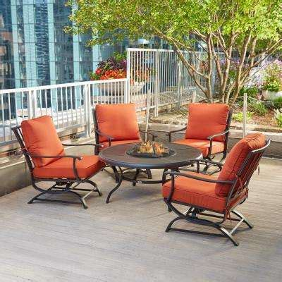 Fire Pit Sets Outdoor Lounge Furniture The Home Depot Outdoor Patio Furniture With Pit