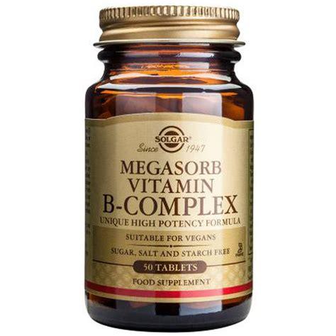 Vitamin B Complex megasorb vitamin b complex 50 from solgar wwsm