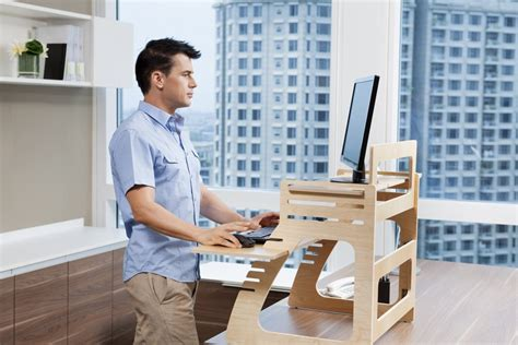 Adjustable Plywood Standing Desk For Home Office Home Office Standing Desk