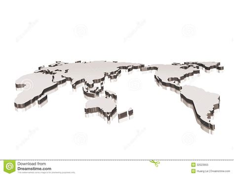 world map illustration free 3d world map royalty free stock photo image 32023955