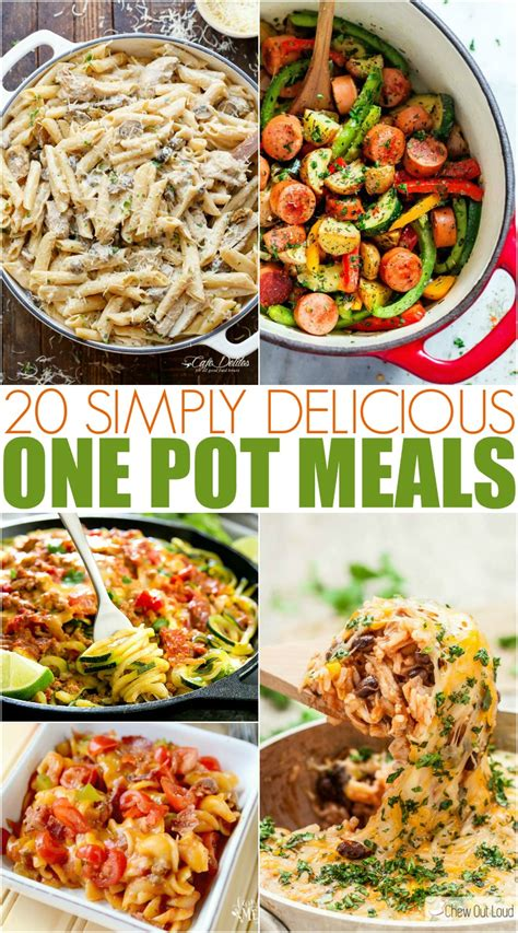 simply delicious and easy one pot meals family fresh meals