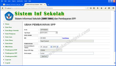 Paket Aplikasi Sistem Nilai Toko Perpusatakaan Berbasis Web contoh program java toko buku contoh 36