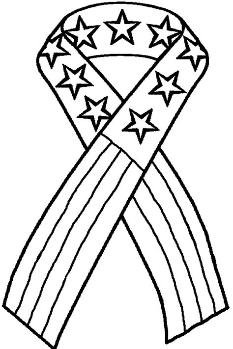 yellow ribbon coloring page awareness ribbon coloring page coloring home