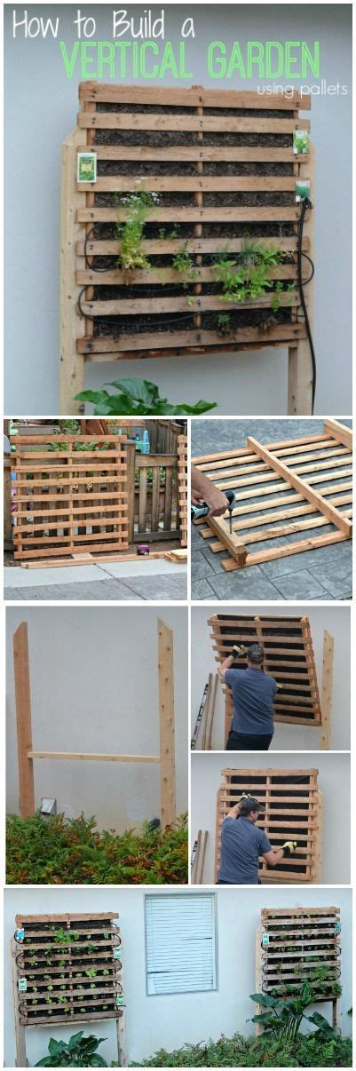how to build a vertical garden using pallets diy of