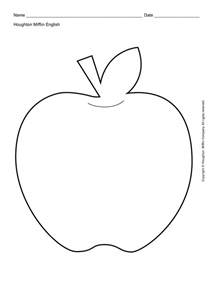 Apple Template Printable by Apple Outline Printable Escuela Cap