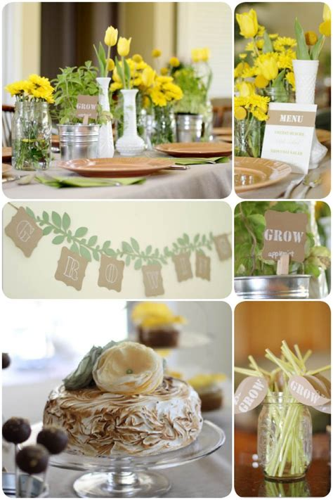 Rustic Baby Shower Theme rustic garden themed baby shower pizzazzerie