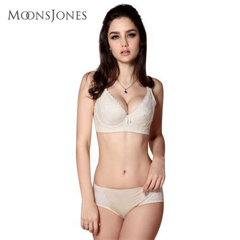 moons jones s thin bra set plus size push up bra