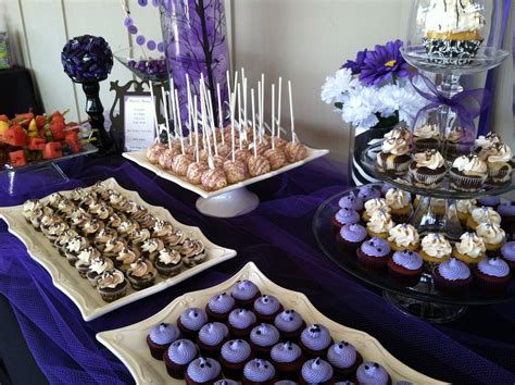 desserts for parties purple and zebra birthday dessert table cupcake