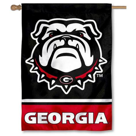 uga dog house uga bulldogs quot new dog quot double sided house banner flag your uga bulldogs quot new dog