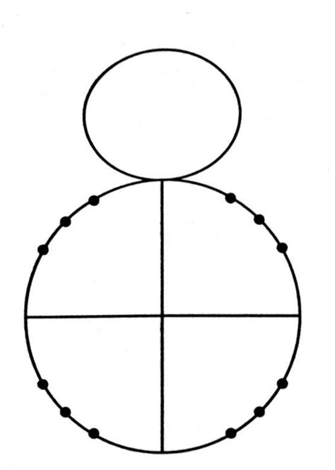 unit circle printable version radian the snowman