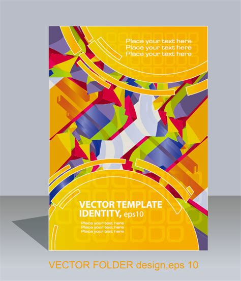 folder layout vector free download abstract folder design vector background 02 free download