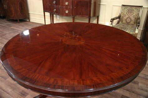 round mahogany dining 54 round to oval mahogany dining