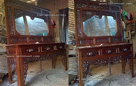 Meja Rias Altar tolet meja rias cermin altar ukiran kayu jati jepara ud