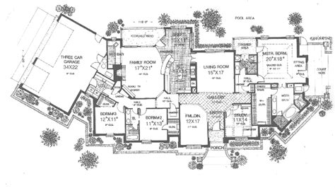 Luxury Ranch House Plans For Entertaining by Salida Manor Luxury Ranch Home Plan 036d 0190 House