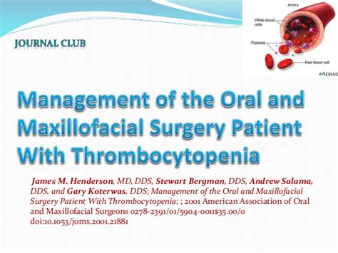 Jaw Surgery And Itp | thrombocytopenia