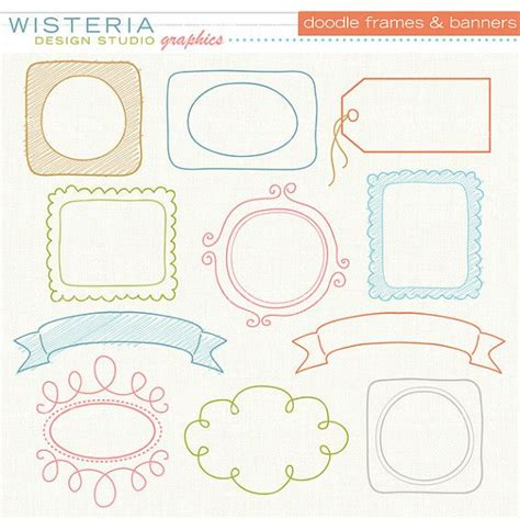 doodle etsy doodle banners by wisteriadesign studio on etsy