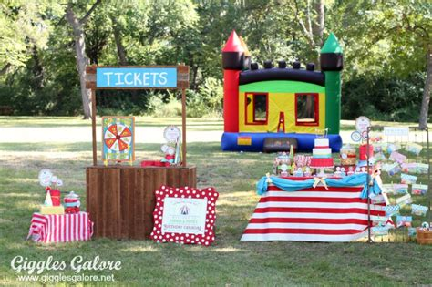 Bday Party Decorations At Home Twins Carnival Birthday Party