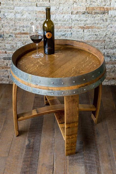 whiskey barrel side table best 25 wine barrel table ideas on wine