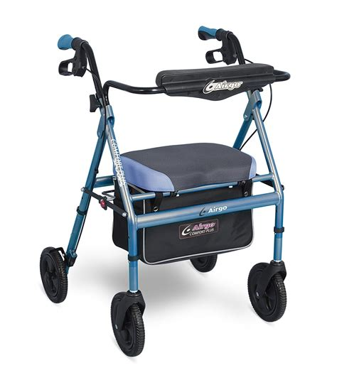 airgo comfort plus transport chair airgo 174 comfort plus xwd rollator irrisdescent blue