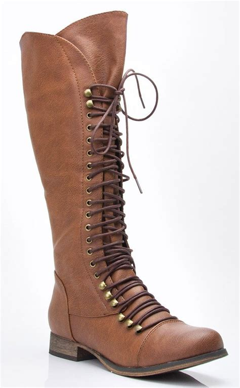 breckelle 35 lace up millitary knee high boot