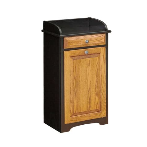 Superior Kitchen Cabinets Trash Bin With Drawer Amish Handcrafted Near Lancaster