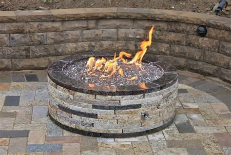 Gas Firepit Insert Grand Resort Gas Pit Kit With 35x35 Firepit Insert