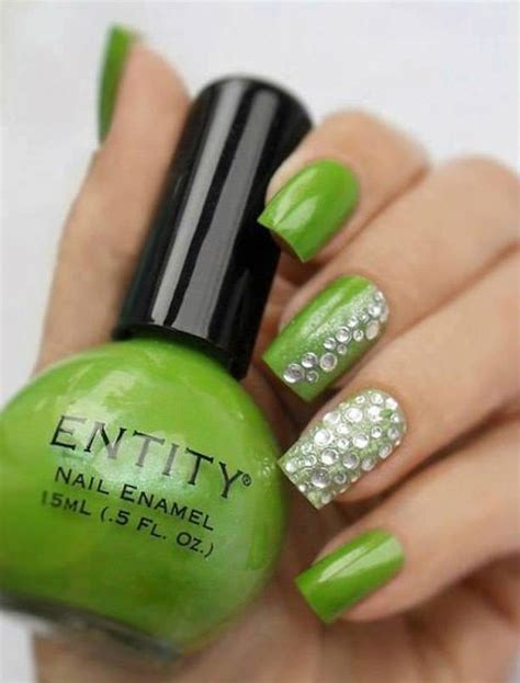 imagenes de uñas decoradas color verde u 241 as decoradas verde manzana