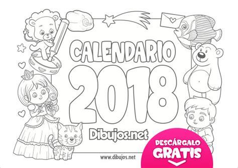 Dibujos Calendario Para Pintar Calendario Infantil 2017 Para Imprimir Y Colorear