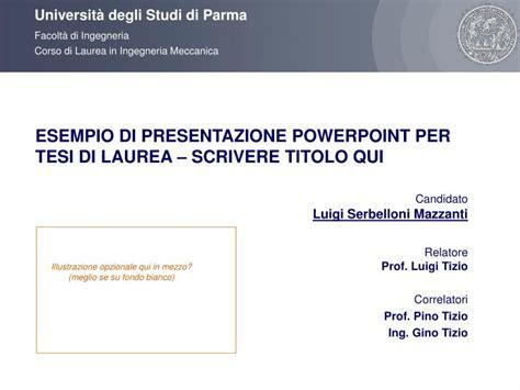 lettere unimi ppt esempio di presentazione powerpoint per tesi di