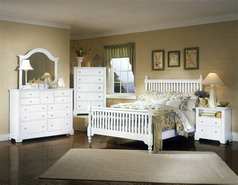 vaughan bassett cottage bb24 white bedroom - Bassett White Bedroom Furniture