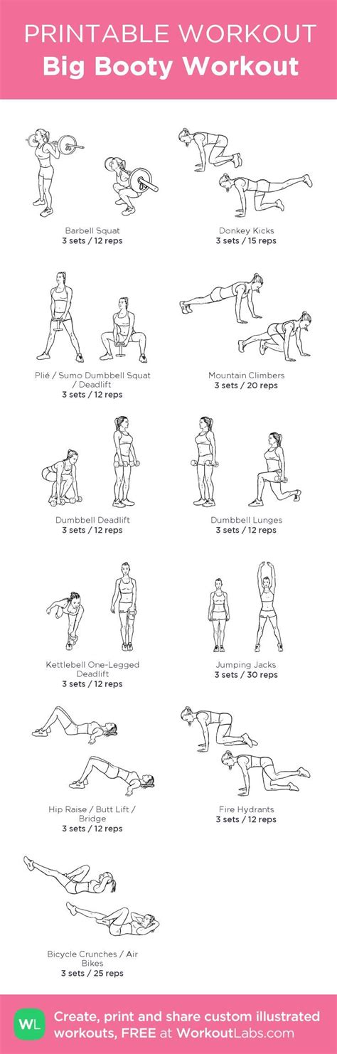 printable exercise routines home 414 best images about glutes building that quot shelf quot on