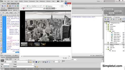 dreamweaver tutorial gallery how to create a responsive javascript image gallery easy