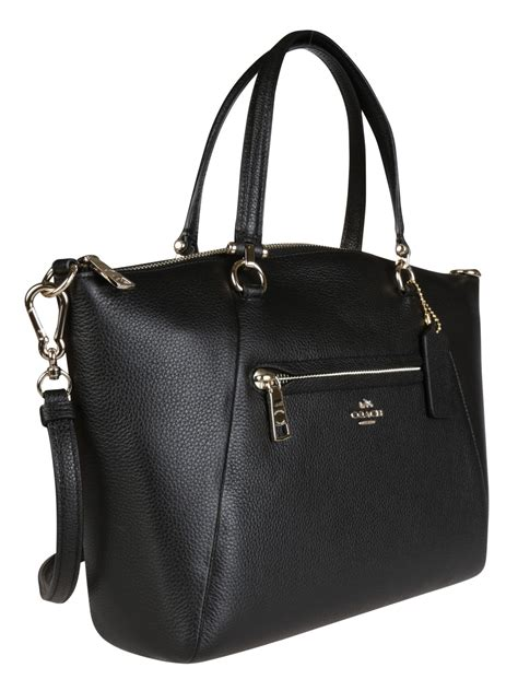 Coach Pabbled Leather Tote coach coach prairie pebble leather tote black s