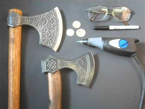 axe engraving how to engrave a viking axe cold steel cool mods