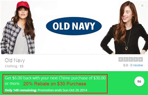 How Much Is On My Old Navy Gift Card - oc meetup reminder apple pay success and new chime card promo for old navy