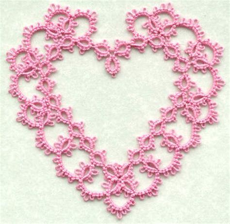 heart pattern lace 17 best images about diy tatting on pinterest free