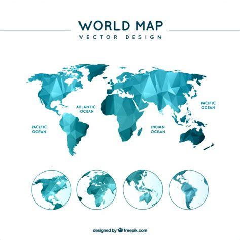 map world free vector polygonal world map vector free