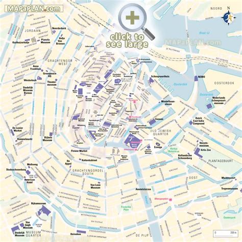 netherlands attractions map amsterdam maps top tourist attractions free printable