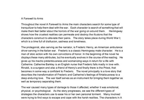 ernest hemingway biography resume a farewell to arms essay introduction docoments ojazlink