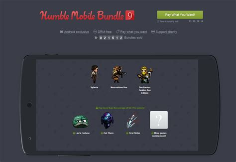 humble bundle android humble mobile bundle 9 le grand cru du mois d octobre frandroid
