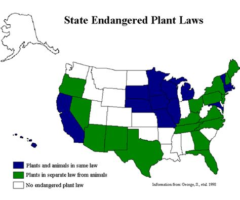 how many states grow trees laws and regulations to protect endangered plants